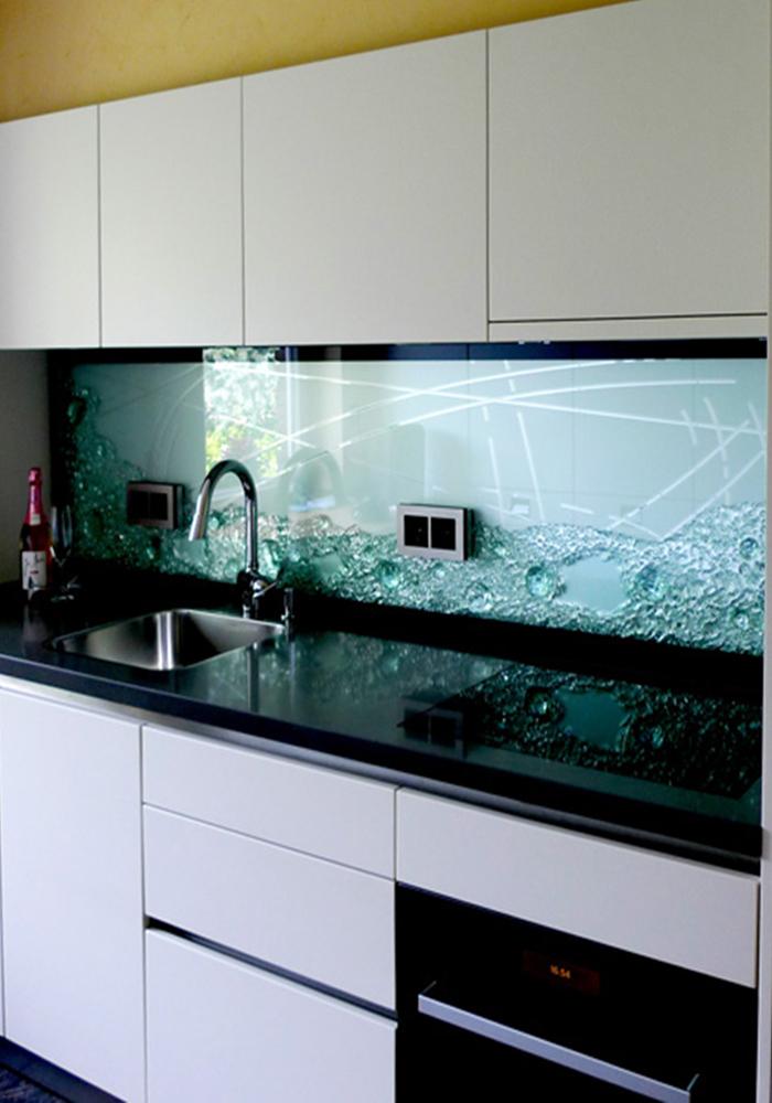 Küchenrückwand Projekte Jostmann Glasmalerei