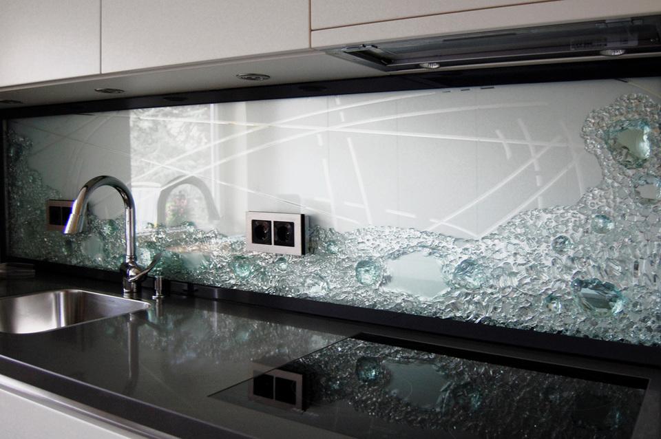 emejing küchenrückwand glas mit led contemporary - amazing design