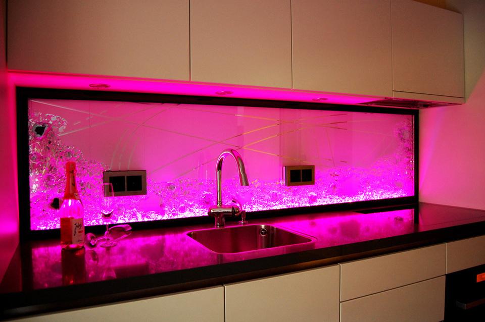 best k252chenr252ckwand glas mit led pictures home design